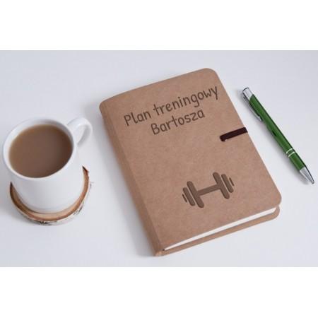 "Notatnik tekturowy personalizowany ""Plany treningowe Bartosza"""