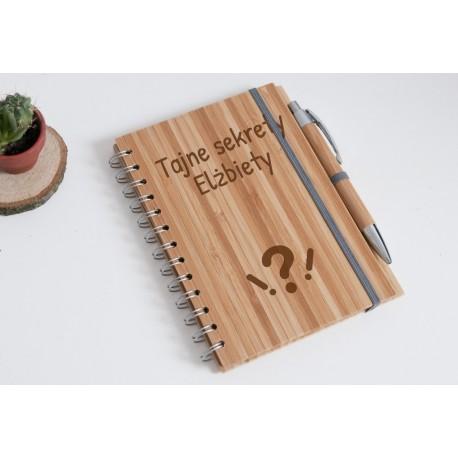 """Notatnik bambusowy """"Tajne sekrety Elżbiety"""""""