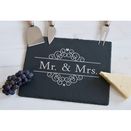 """Deska do serów z akcesoriami """"Mr. & Mrs."""""""