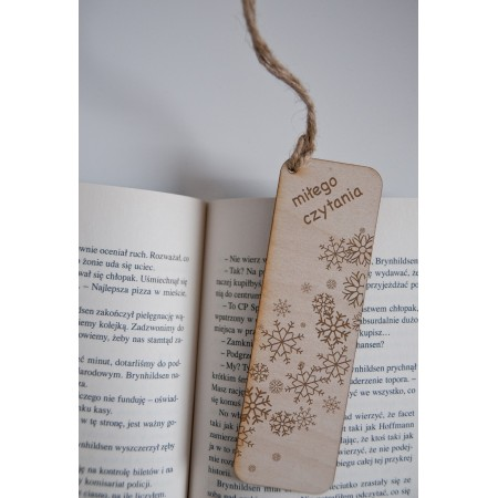"""Świąteczna zakładka do książki """"Miłego czytania"""""""