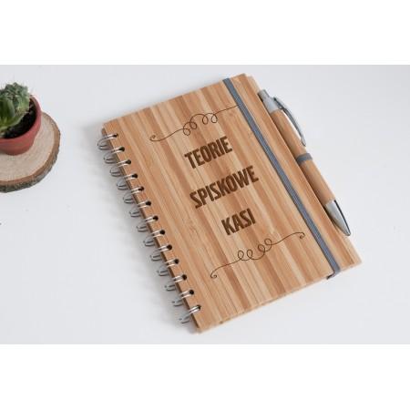 "Notatnik bambubsowy ""Teorie spiskowe Kasi"""