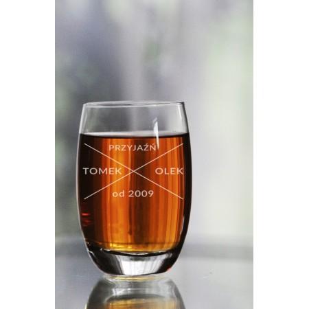 Szklanka personalizowana do whisky dla przyjaciół okrągła