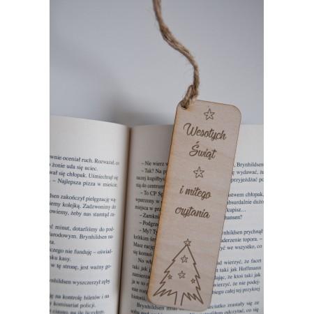 """Świąteczna zakładka do książki """"Wesołych Świąt i miłego czytania"""""""