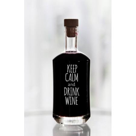 """Karafka dla kobiety """"Keep calm and drink wine"""""""