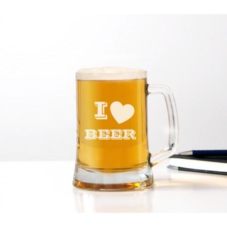 Kufel do piwa 'I love BEER' dla mężczyzny