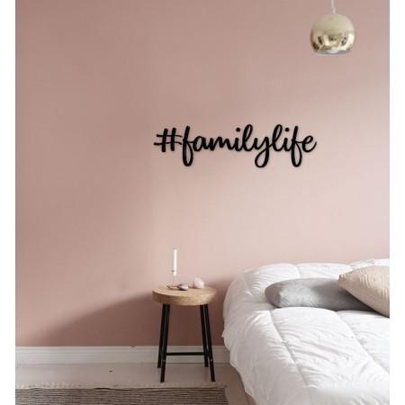 FAMILYLIFE - napis na ścianę, ozdoba 3D, dekoracja mieszkania, wystrój wnętrz