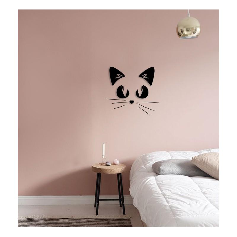 Kotek Napis Na ścianę Ozdoba 3d Dekoracja Pokoju Dziecięcego Wystrój Wnętrz Giftmakereu