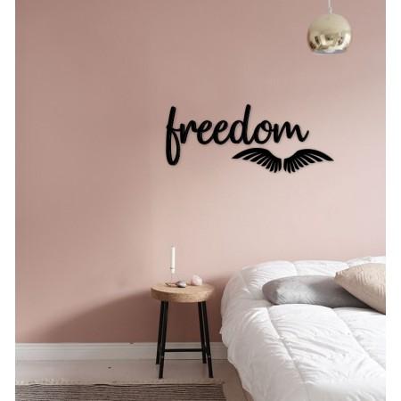FREEDOM - napis na ścianę, ozdoba 3D, dekoracja mieszkania, wystrój wnętrz
