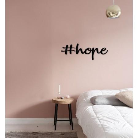 HOPE - napis na ścianę, ozdoba 3D, dekoracja mieszkania, wystrój wnętrz