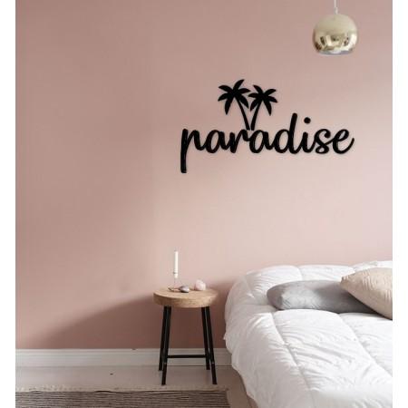 PARADISE - napis na ścianę, ozdoba 3D, dekoracja mieszkania, wystrój wnętrz