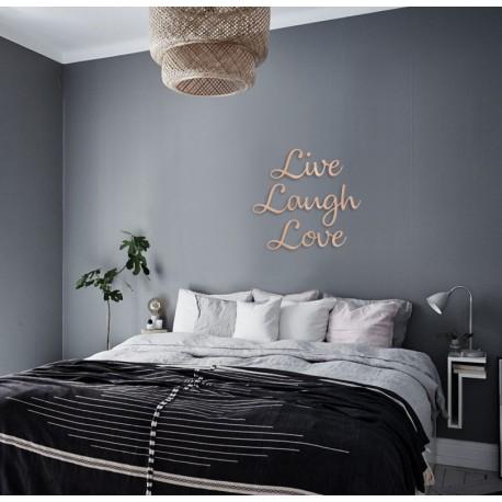 LIVE LAUGH LOVE - napis na ścianę, ozdoba 3D, dekoracja mieszkania, wystrój wnętrz