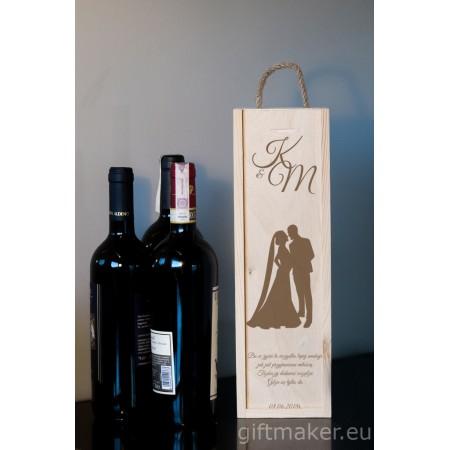 Personalizowane pudełko do wina dla młodej pary