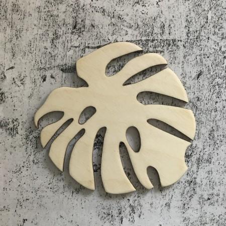 Zestaw 6 podkładek pod kubek w kształcie liścia