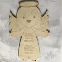 Aniołek - ozdoba ze sklejki na ścianę