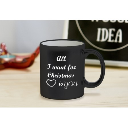 """Kubek z grawerem """"all I want for Christmas is you"""""""
