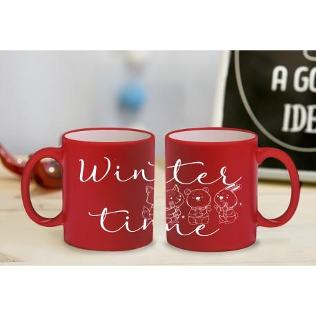 "Kubek z grawerem ""Winter time"""