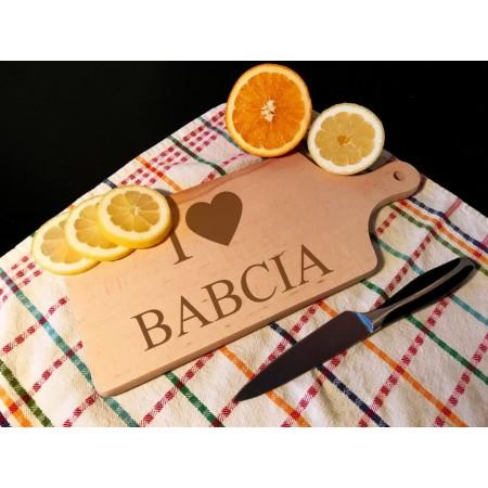 Deska kuchenna - I love babcia