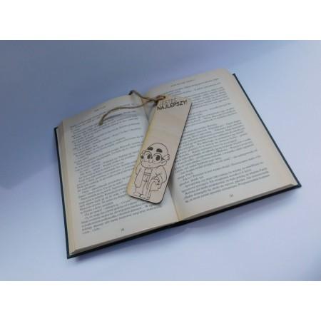 """Drewniana zakładka do książki dla dziadka  - """"Jesteś najlepszy"""""""