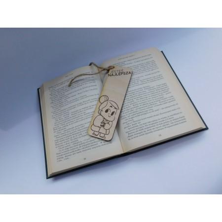 """Drewniana zakładka do książki dla babci """"Jesteś najlepsza"""""""