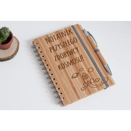 """Notes bambusowy dla dziecka """"Przyszły zdobywca kosmosu"""""""