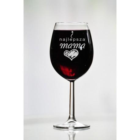 """Kieliszek do wina dla mamy """"Najlepsza mama"""""""