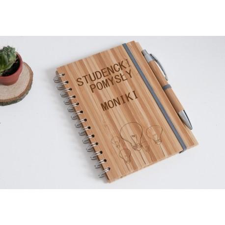 "Notatnik bambusowy na ""Studenckie pomysły Moniki"""