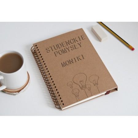 "Notatnik tekturowy na spirali ""Studenckie pomysły Moniki"""