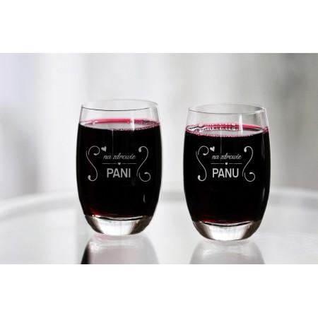 "Komplet szklanek dla pary ""Na zdrowie Pani/Panu"""