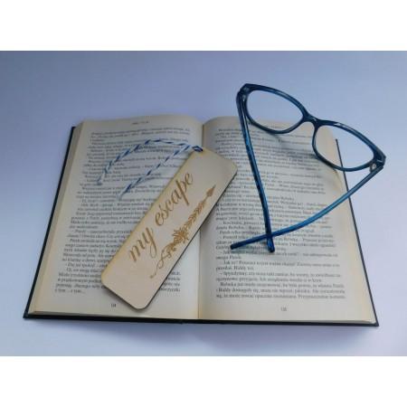 Drewniana zakładka do książki - My escape - 1