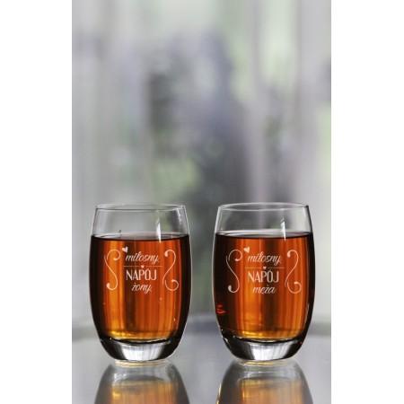 "Komplet szklanek dla małżeństwa ""Miłosny napój żony/męża"""