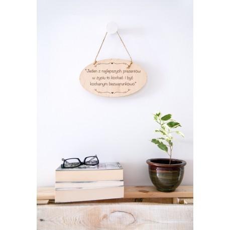 """Drewniana tabliczka dla pary """"Jeden z najlepszych prezentów..."""""""