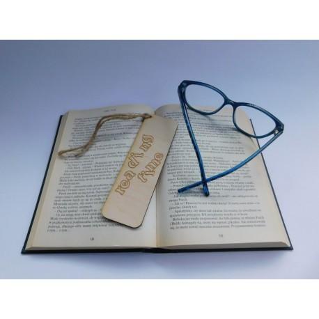 Drewniana zakładka do książki - Reading time - 1
