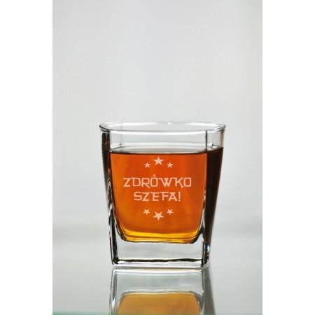 """Szklana do whisky dla szefa """"Zdrówko szefa"""""""