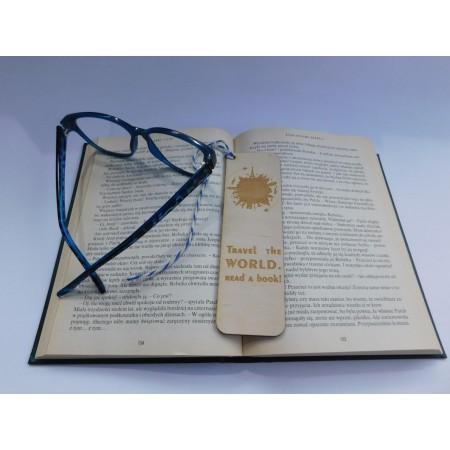 Drewniana zakładka do książki - Travel the world - 1
