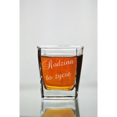 """Szklanka do whisky """"Rodzina to życie"""""""