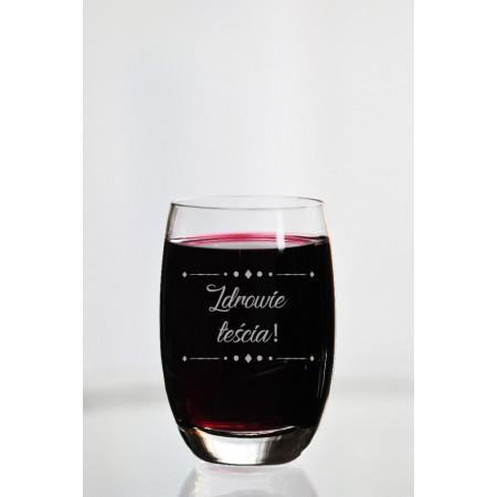"""Szklanka do wina dla teścia """"Zdrowie teścia"""""""